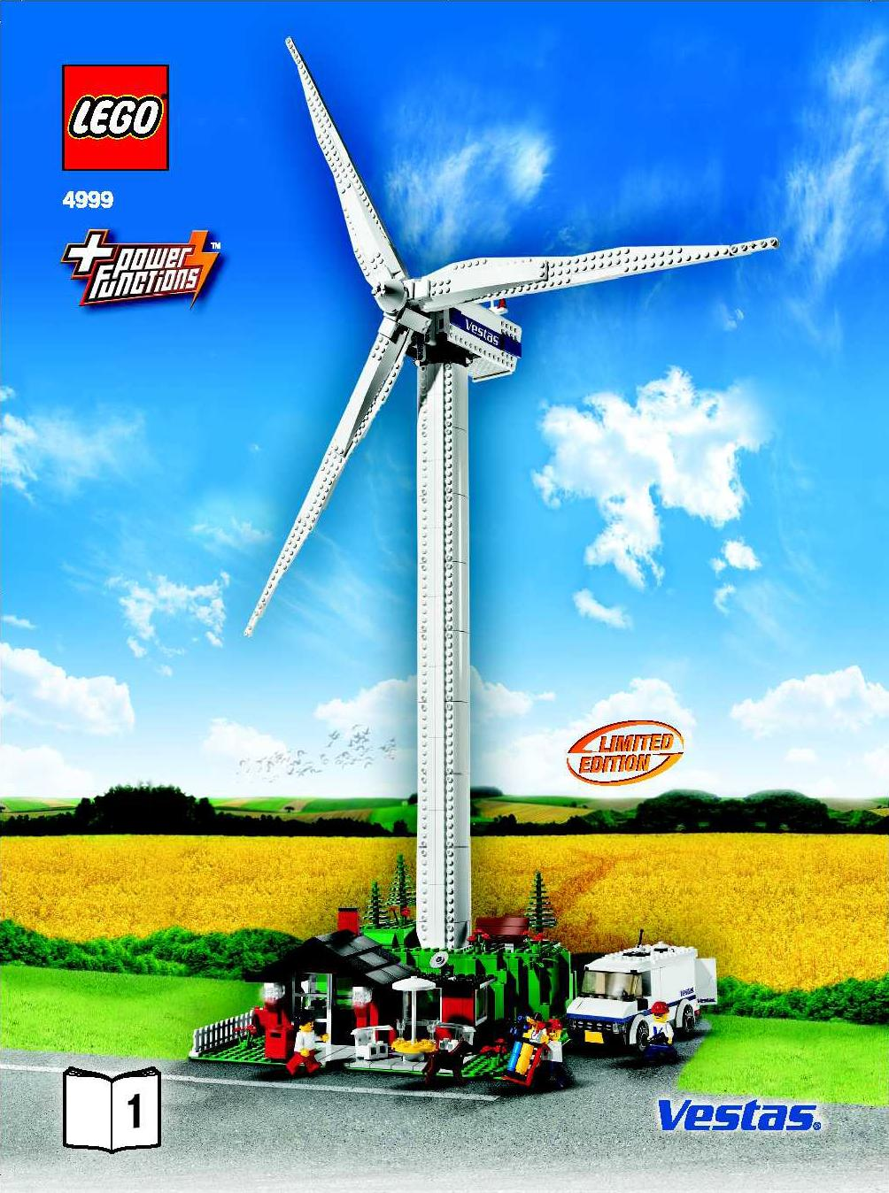 Wind farms construction · LEGO Vestas 4999 Power Functions Windmill