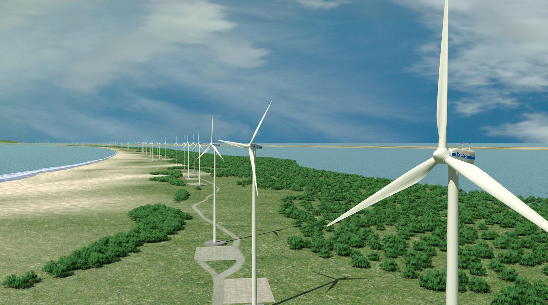 Wind farms construction · Istmeño wind farm 3D model