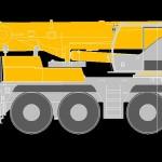 Liebherr  LTM 1090 Track Crane Side View
