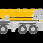 Liebherr  LTM 1350 Track Crane Side View