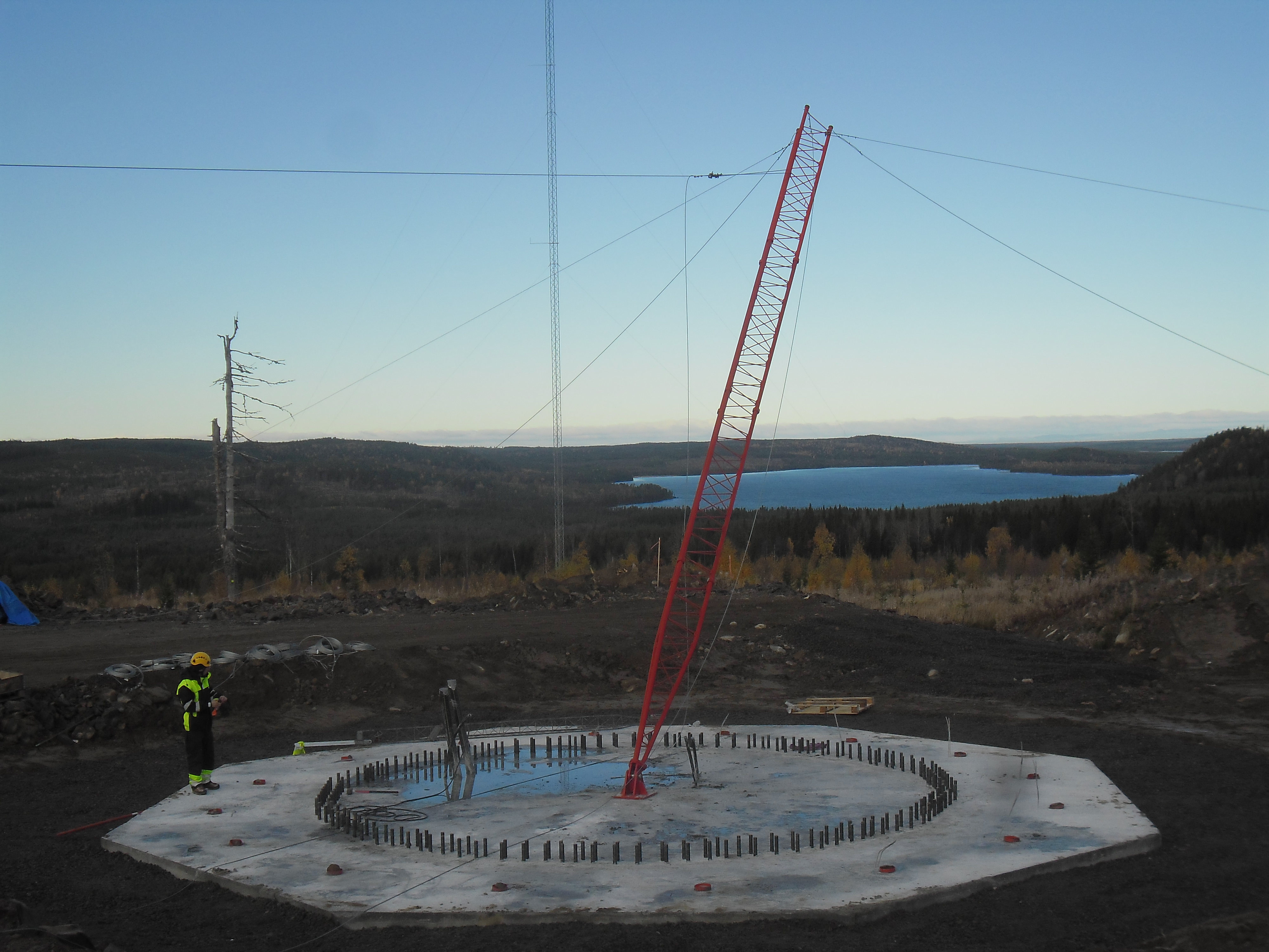 Guy-wire supported mast for a permanent met mast | Wind farms ...