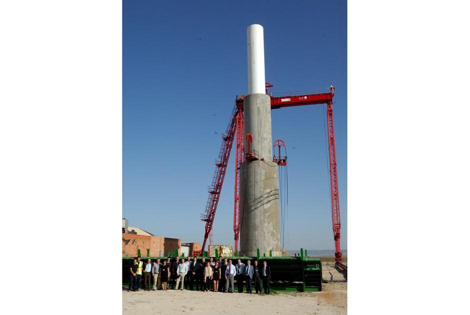 Hybrid offshore tower